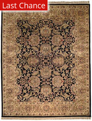 Rugstudio Sample Sale 46491R Black / Gold Area Rug