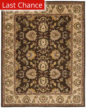 Rugstudio Sample Sale 46772R Brown / Ivory Area Rug
