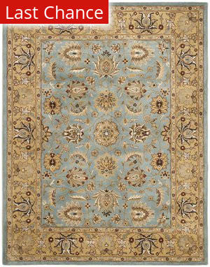 Rugstudio Sample Sale 46774R Blue / Gold Area Rug