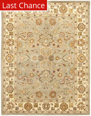 Rugstudio Sample Sale 46775R Light Green / Beige Area Rug