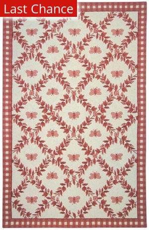 Rugstudio Sample Sale 46443R Ivory / Rose Area Rug