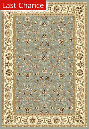 Rugstudio Sample Sale 50072R Light Blue / Ivory Area Rug