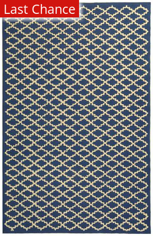 Rugstudio Sample Sale 46933R Indigo / Ivory Area Rug