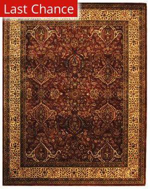 Rugstudio Sample Sale 46987R Red / Ivory Area Rug