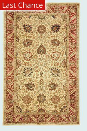 Rugstudio Sample Sale 46994R Ivory / Red Area Rug