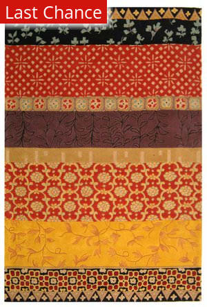 Rugstudio Sample Sale 50216R Rust / Gold Area Rug