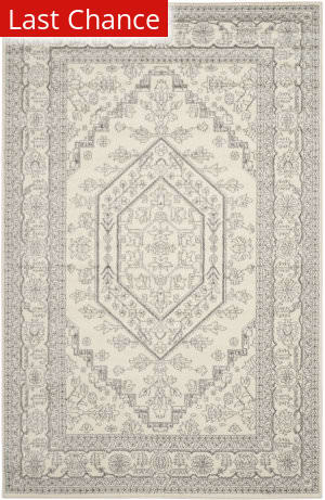 Rugstudio Sample Sale 107835R Ivory / Silver Area Rug