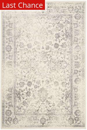 Rugstudio Sample Sale 154791R Ivory - Silver Area Rug