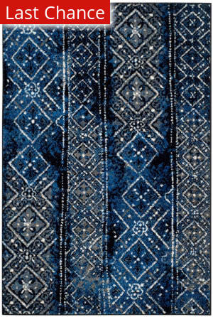Rugstudio Sample Sale 154798R Silver - Black Area Rug