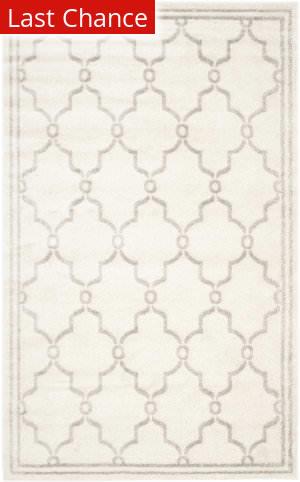 Rugstudio Sample Sale 192461R Ivory - Light Grey Area Rug