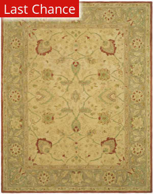 Rugstudio Sample Sale 46242R Ivory / Rust Area Rug