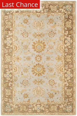 Rugstudio Sample Sale 66179R Teal / Brown Area Rug