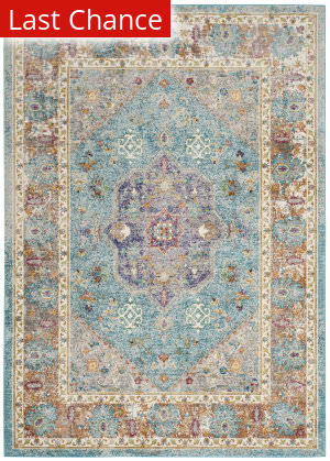 Rugstudio Sample Sale 192470R Blue - Creme Area Rug