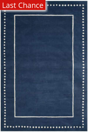 Rugstudio Sample Sale 192585R Navy Blue - Ivory Area Rug