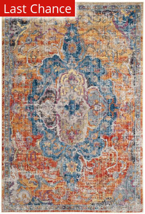 Rugstudio Sample Sale 181925R Blue - Orange Area Rug