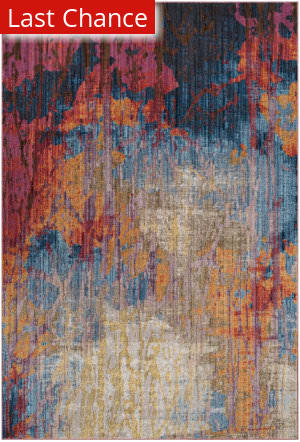 Rugstudio Sample Sale 181928R Blue - Rust Area Rug