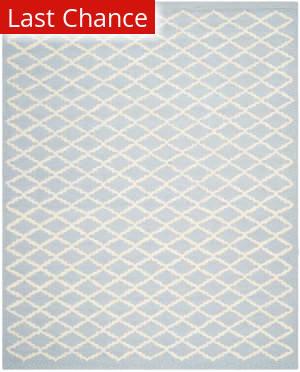 Rugstudio Sample Sale 100384R Light Blue / Ivory Area Rug