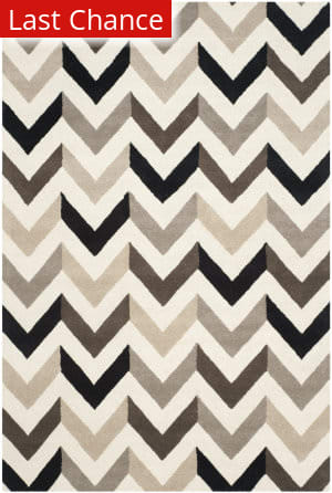 Rugstudio Sample Sale 111974R Ivory / Black Area Rug