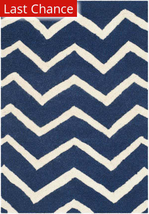 Rugstudio Sample Sale 126692R Navy - Ivory Area Rug