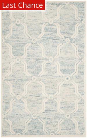 Rugstudio Sample Sale 154990R Light Blue - Ivory Area Rug