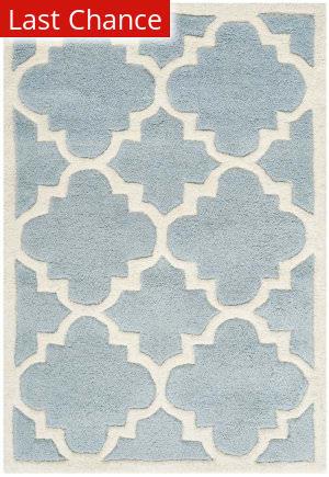 Rugstudio Sample Sale 94209R Blue / Ivory Area Rug