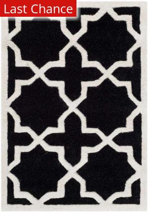 Rugstudio Sample Sale 94223R Black / Ivory Area Rug