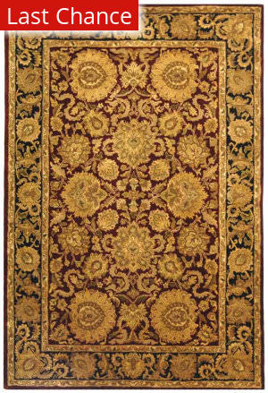 Rugstudio Sample Sale 49689R Burgundy / Gold Area Rug
