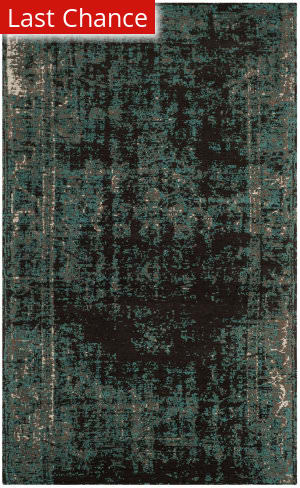 Rugstudio Sample Sale 166193R Teal - Brown Area Rug