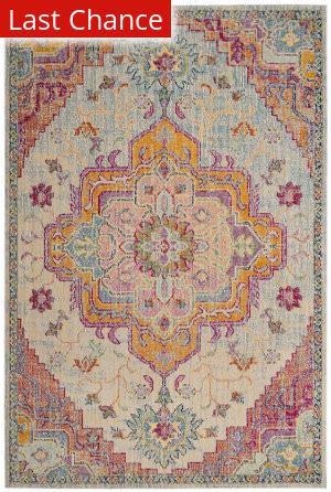 Rugstudio Sample Sale 181960R Light Blue - Fuchsia Area Rug