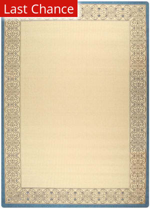 Rugstudio Sample Sale 98725R Natural / Blue Area Rug