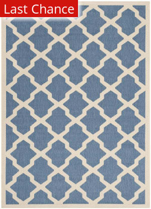 Rugstudio Sample Sale 182053R Blue - Beige Area Rug