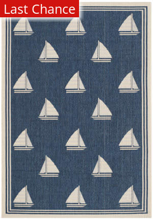 Rugstudio Sample Sale 143256R Navy - Beige Area Rug