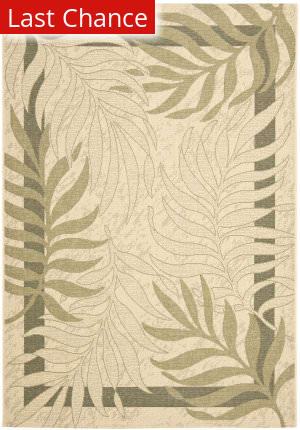 Rugstudio Sample Sale 99141R Cream / Green Area Rug