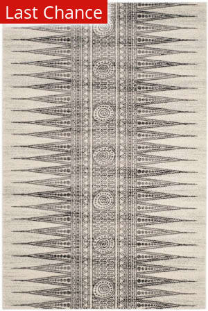 Rugstudio Sample Sale 155257R Ivory - Grey Area Rug