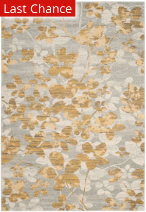 Rugstudio Sample Sale 155263R Grey - Gold Area Rug