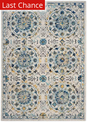 Rugstudio Sample Sale 155274R Ivory - Blue Area Rug