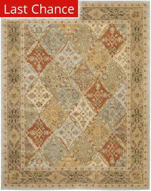 Rugstudio Sample Sale 80582R Light Blue / Light Brown Area Rug