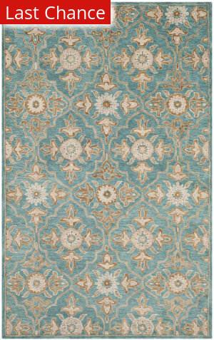 Rugstudio Sample Sale 195688R Turquoise - Multi Area Rug
