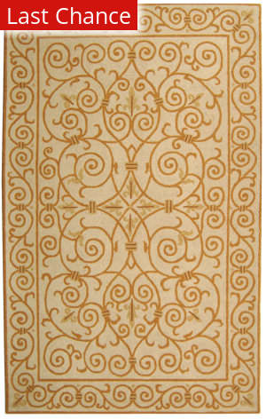 Rugstudio Sample Sale 49888R Ivory / Gold Area Rug