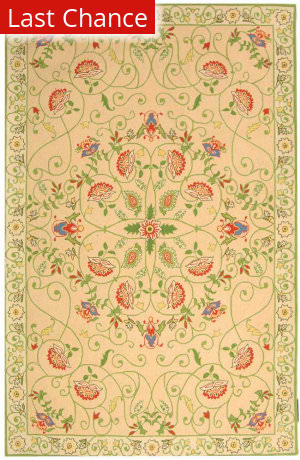Rugstudio Sample Sale 46412R Beige / Green Area Rug