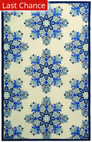 Rugstudio Sample Sale 46422R Ivory / Blue Area Rug