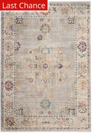 Rugstudio Sample Sale 182225R Light Grey - Cream Area Rug