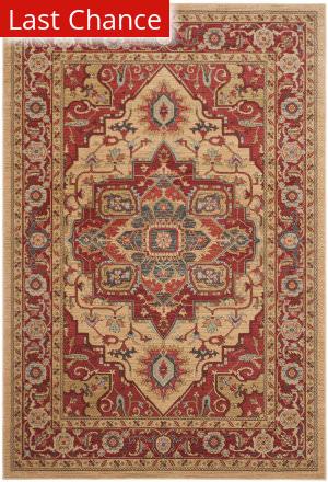 Rugstudio Sample Sale 126833R Red - Natural Area Rug