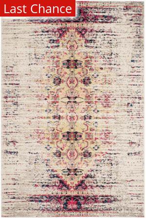 Rugstudio Sample Sale 155531R Ivory - Pink Area Rug