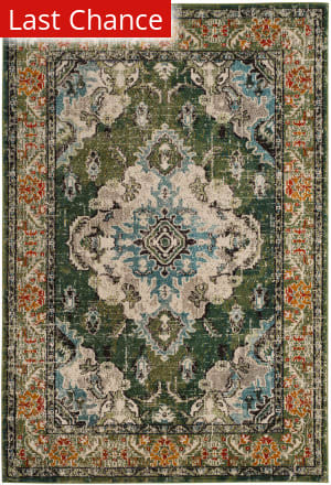 Rugstudio Sample Sale 192300R Forest Green - Light Blue Area Rug