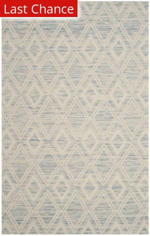 Rugstudio Sample Sale 166420R Light Blue - Ivory Area Rug
