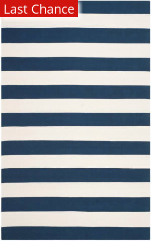 Rugstudio Sample Sale 155551R Navy - Ivory Area Rug