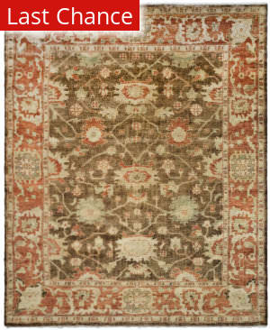 Rugstudio Sample Sale 100675R Brown / Rust Area Rug