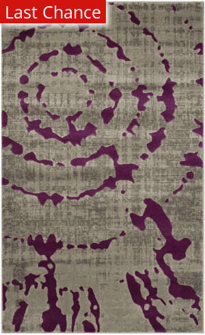 Rugstudio Sample Sale 143598R Light Grey - Purple Area Rug