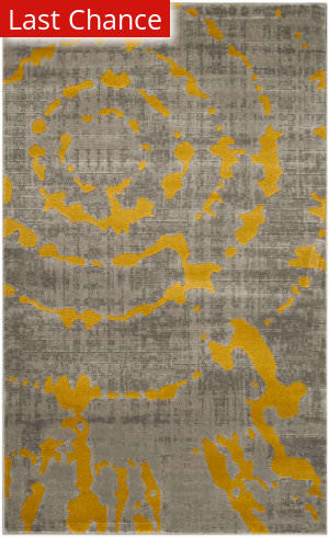 Rugstudio Sample Sale 143599R Light Grey - Yellow Area Rug